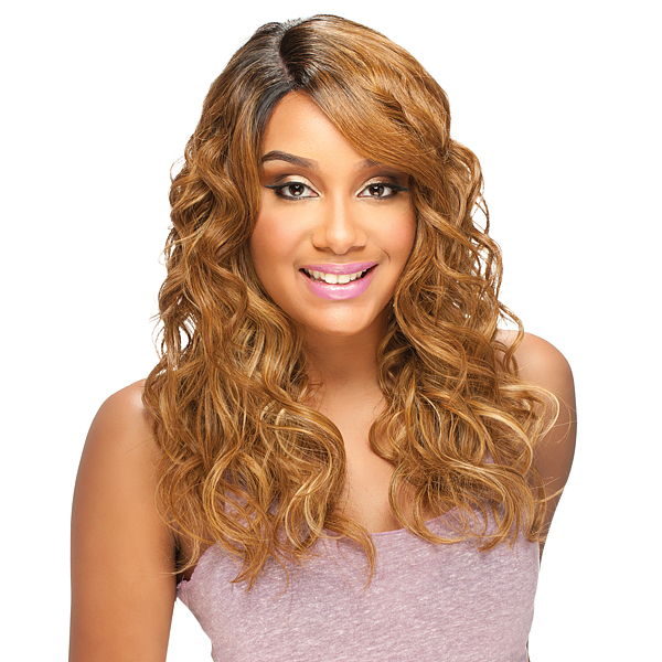 Model Model Synthetic Deep Invisible Part Lace Wig RISQUE