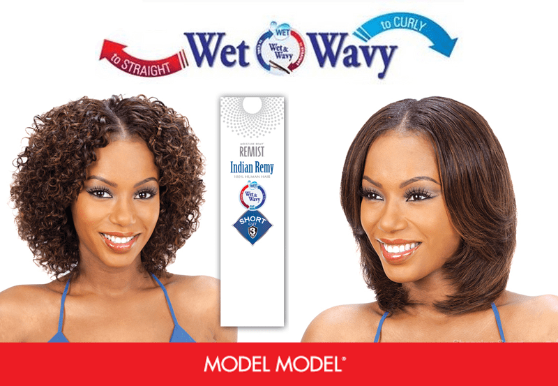 Model Model WET and WAVY Indian Remy 3pcs MIST DEEP