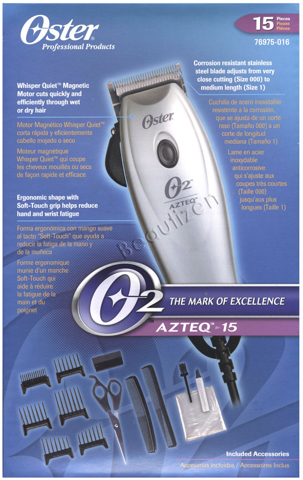 Oster Professional AZTEQ 15 Ajustable Magnetic Motor Clipper