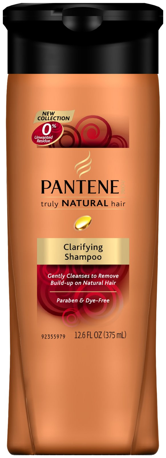 Pantene Truly Natural Hair Clarifying Shampoo 12.6oz