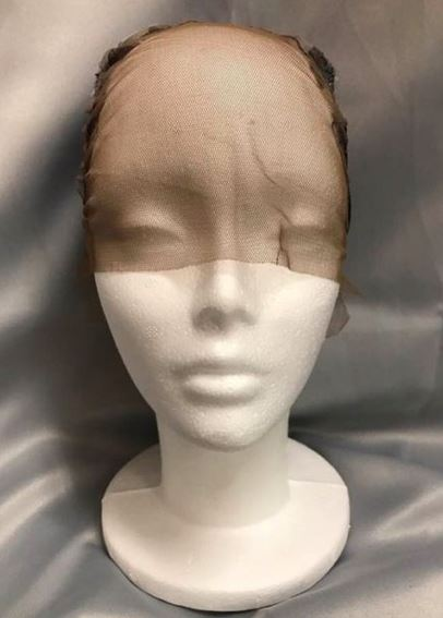 QFITT MAKE YOUR OWN WIG CAPLESS FRONTAL LACE TOP WIG CAP #5067 BLACK