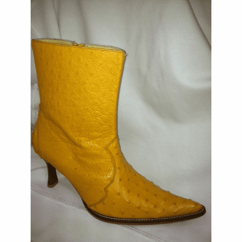 Exotic Ostrich Buttercup  Ladies boot