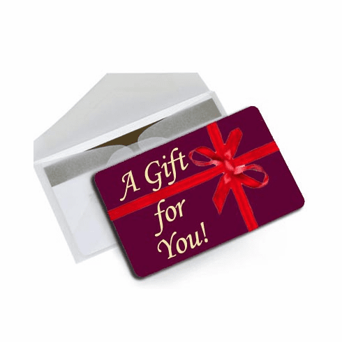 Gift Cards, Online Gift Certificates $25