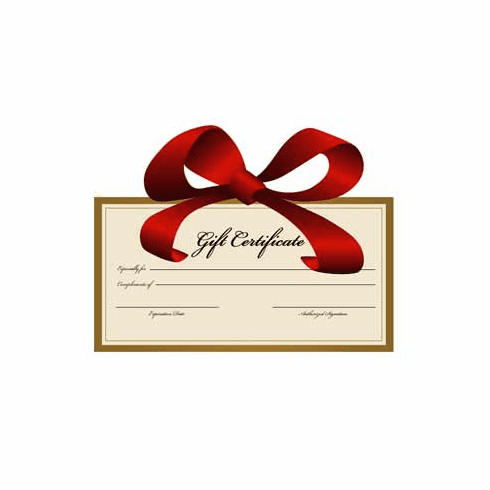 Gift Cards, Online Gift Certificates $500