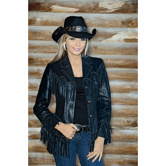 -Girl's Night Out  Black Leather Jacket