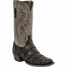 Lucchese 1883 Burke Black Giant American Alligator 31M96 Free Shipping