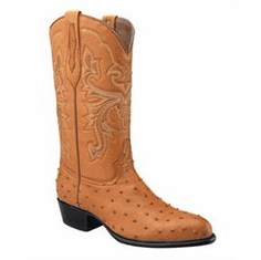 Ostrich Print Western Boots