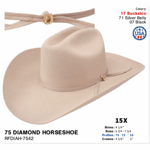 Resistol 15x Diamond Horseshoe