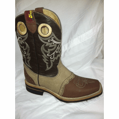 Rodeo Boots Bone with Brown