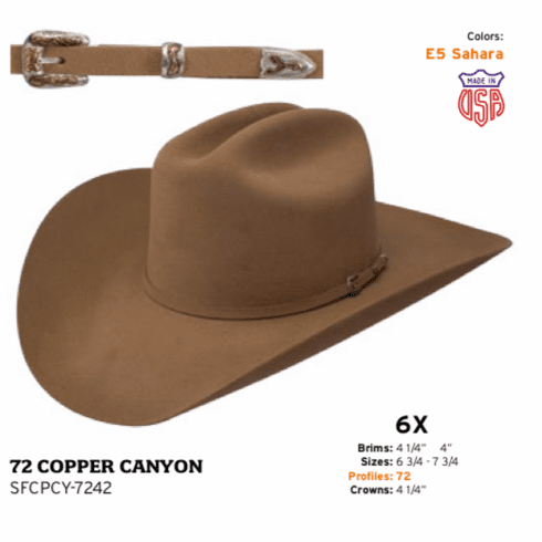 Stetson 6x Copper Canyon