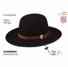 Stetson Ashberry crushable wool