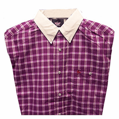 Wrangler Shirt  PBR Purple & White Plaid