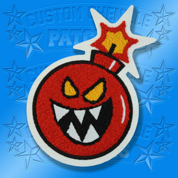 Chenille and Embroidery and Chainstitch Bomb Boy Patch