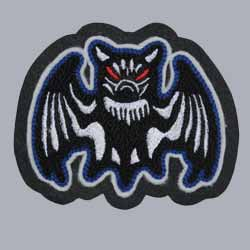 Chenille and Embroidery Bat Patch
