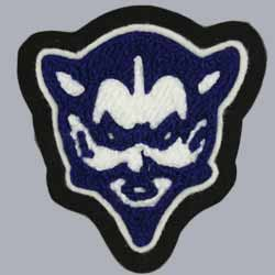 Chenille and Embroidery Blue Devil Patch