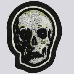 Chenille and Embroidery Evil Skull Patch