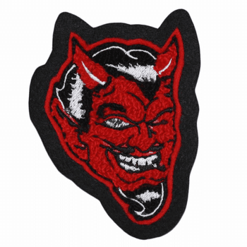 Chenille and Embroidery Red Devil Patch