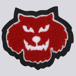 Chenille and Embroidery Wolfman Patch