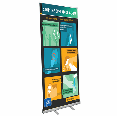 Stand Banner CDC Stop the Spread of Germs
