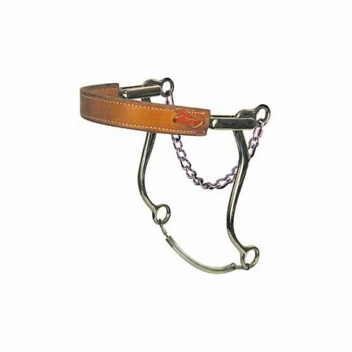 951- Mechanical Hackamore - Flat Leather Nose