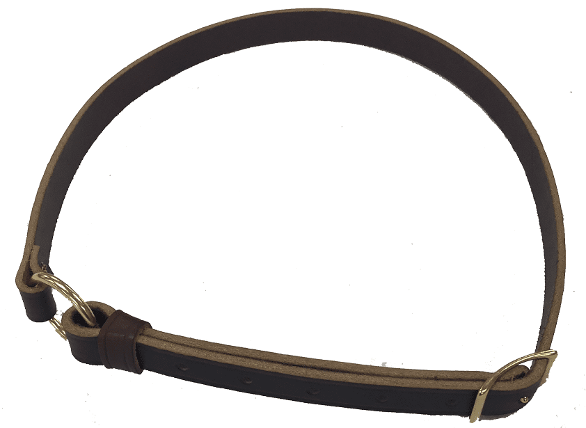 Pony Size Black BN Leather Neck Straps for Horse Riding