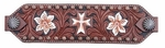 Bar H Floral with Cross Bronc Noseband