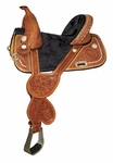 Circle Y Fischer Treeless Bling Barrel Saddle
