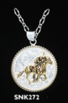 Derby Horse Pendant Necklace
