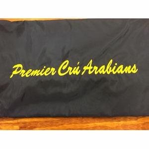 *Add* Embroidered Lettering  for Blankets, Saddle Pads and Luggage