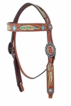 Hand Painted Feather Headstall