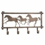 Horses & Barb Wire Wall Rack