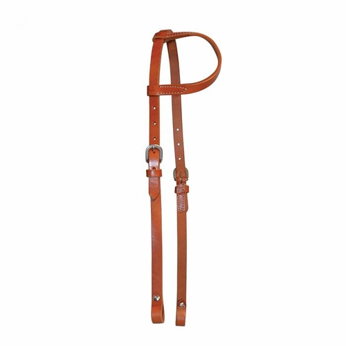Lightweight Classic One Ear Headstall <br> <font color=green> Regular Oil or Black </font color=green>