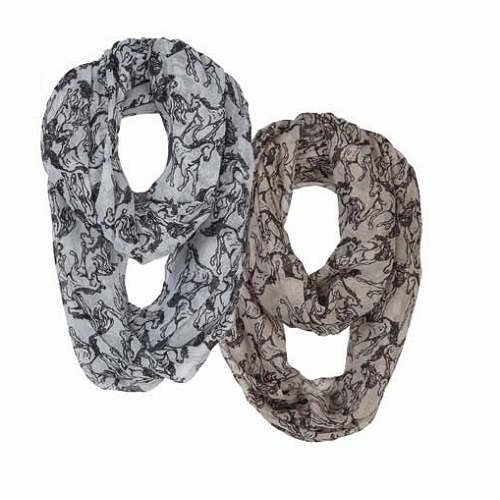 Linear Horse Infinity Scarf