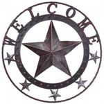 Rustic Welcome Star