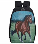 Galloping Bay Horse Backpack <br> <font color=red> Clearance </font color=red>