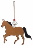 Bay Horse Christmas Ornament