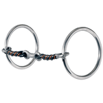 Medium Loose Ring Three-Piece Sweet & Sour Dogbone Snaffle <br> Stage A