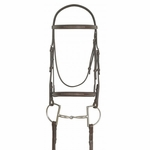 Ovation <Font color=Navy>Elite Collection </Font color=Navy> Fancy Raised Traditional Crown Padded Bridle