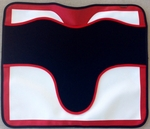Plain Custom Vinyl & Foam Saddle Pad