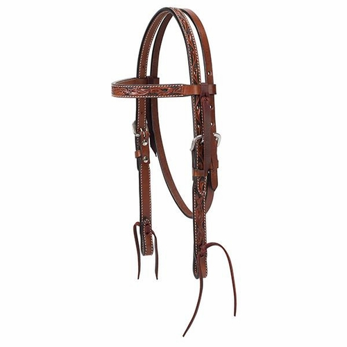 Pony Floral Carved Headstall