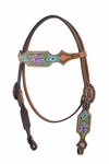 Purple Floral Headstall