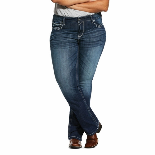 R.E.A.L. Mid Rise Entwined Stretch Boot Cut Jeans