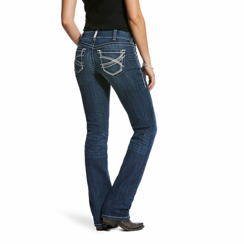 R.E.A.L Mid Rise, Ivy Stackable Stretch Straight Leg