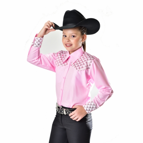 Royal Highness Youth Show Shirt with Sequin yoke