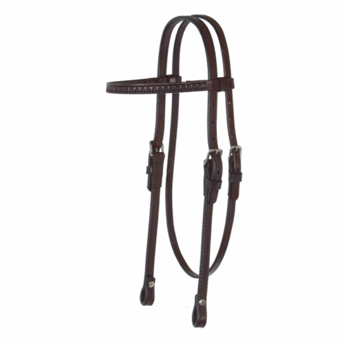 Shell Tooled Browband Headstall