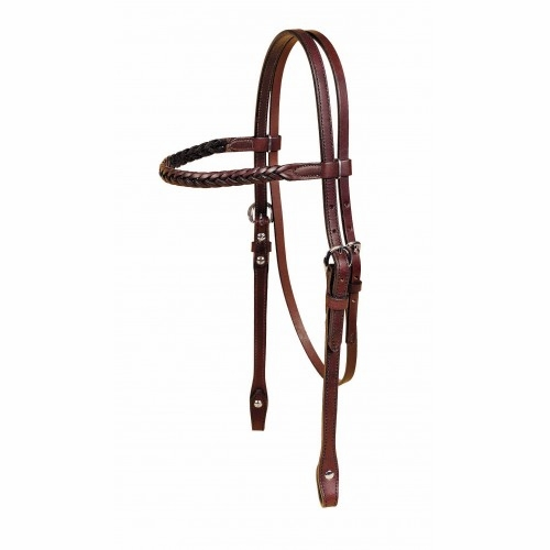 Tory Leather Braided Browband Headstall