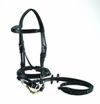 Vespucci Double Raised Snaffle Bridle