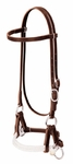 Weaver Deluxe Latigo Leather Side Pull, Double Rope