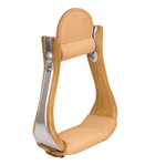Wooden Stirrups with Leather Tread