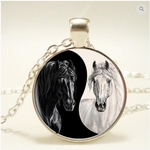 Ying/Yang Horses Necklace<BR> <Font color=Red> Clearance </Font color=Red>